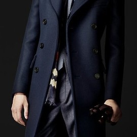 BURBERRY - Wool Felt Tailored Coat