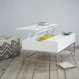 west elm - Storage Coffee Table - White Lacquer