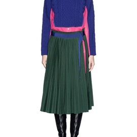 sacai - WOOL SWEATER PLEAT SKIRT SHIRT DRESS