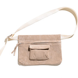 Hender Scheme - Waist Belt Bag Wide-Beige