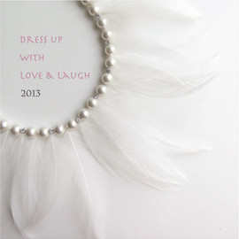 confetti - feather necklace