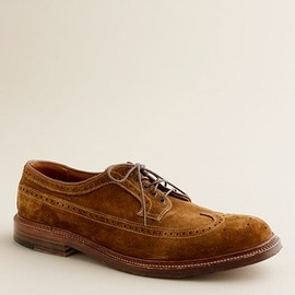 ALDEN - R for J.Crew suede longwing bluchers