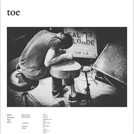 "toe - North American Tour 2015 Poster ""Good bye"""