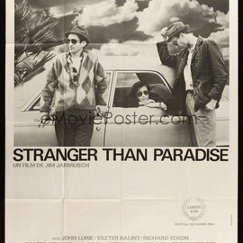 Jim Jarmusch - STRANGER THAN PARADISE Original Poster (French ver.) 47 x 63 inch.