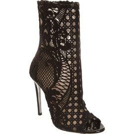 BALMAIN - Lace Embroidered Boot