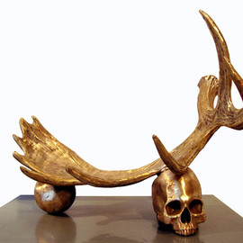Rick Owens - Sculpture / Skull - Horns - ball.