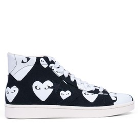 PLAY COMME des GARÇONS - Converse Pro Leather High (Black / White)