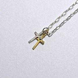 FANTASTIC MAN - necklace tiny W cross