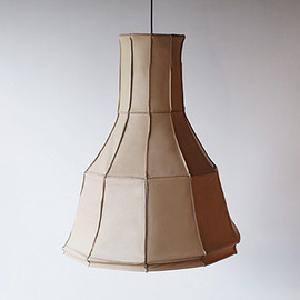 PePe Heykoop & Tiny Miracles FOUNDATION - Leather Lampshade - Vertical Beige