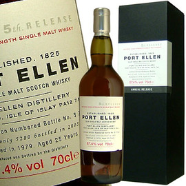 Port Ellen - 25 Years 5th Release Natural Cask Strength Distilled 1979