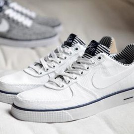 Nike - NIKE AIR FORCE 1 AC PREMIUM QS WHITE/WHITE-MIDNIGHT NAVY