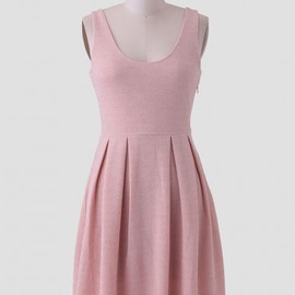 Ruche - Rose champagne pleated dress