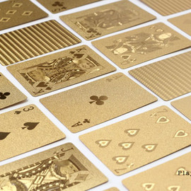 DETAIL / PLAYING CARDS GOLD - 金色 トランプ