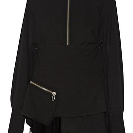 Marques' Almeida - Embellished wool-crepe top