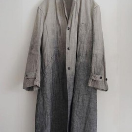 LILY1ST VINTAGE - 1930's french linen gradation atelier coat