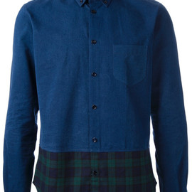 Carven - Carven Carreau Denim Shirt in Blue for Men (denim) - Lyst