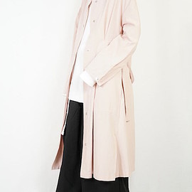 HELK - LINEN TUCK FLARE LONG COAT