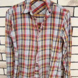MARKA - REVERSIBLE WIRED SHIRTS GRAY×RED×YELLOW
