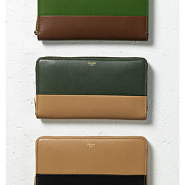 CELINE - LARGE ZIPPED BI-COLOR MULTI FUNCTION WALLET