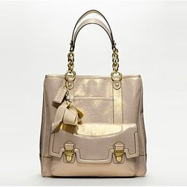 COACH - Coach 17924 - Poppy Pushlock Leather North South Tote