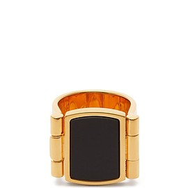 JILSANDER - flat top onyx ring