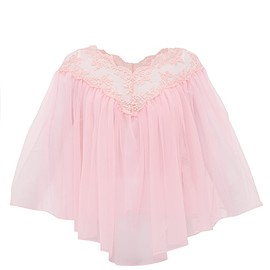 Christopher Kane - Lace-trimmed tulle cape top