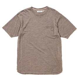 nonnative - DWELLER S/S TEE WOOL JERSEY Mt.Breath Wool®