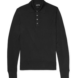 TOM FORD - Merino Wool Polo Shirt
