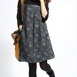 MaLieb - Spring cotton pile collar the Patchwork tunic long sleeve dress Bottoming shirt