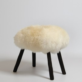 James Carroll - SHEEPSKIN STOOL