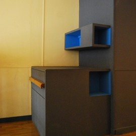Le Corbusier - In-house furniture, Unité d' Habitation in Marseille, France