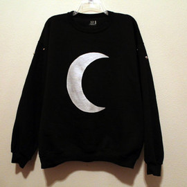 wildblacksheep - black crescent moon sweatshirt