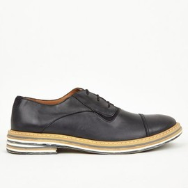 Maison Martin Margiela - 22 Men's Black Marble Sole Derby Shoes