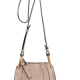 Chloé - Hayley nano leather-trimmed suede shoulder bag