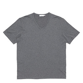 SUNSPEL - Short Sleeve V Neck-Q82 Plain-Charcoal