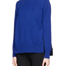 sacai - PLISSÉ PLEAT CHIFFON BACK TURTLENECK SWEATER