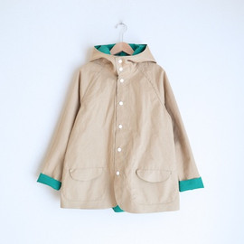 miraco - Two Tone BD JACKET / BEIGE×GREEN