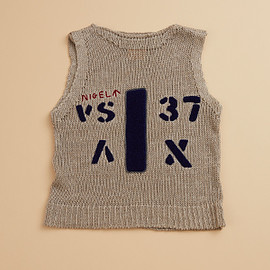 Nigel Cabourn - AIRCRAFT VEST - HANDLE EMBROIDERY