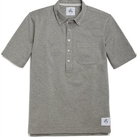 BLACK FLEECE BY Brooks Brothers - Cotton Pique Polo with Grosgrain