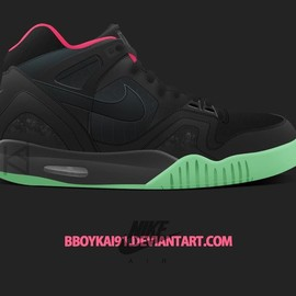 Nike - Air Tech Challenge II - Black/Pink/Glow in the Dark