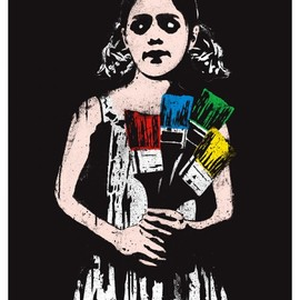 DOLK - dolk paintbrush girl 450x630 New print from Dolk