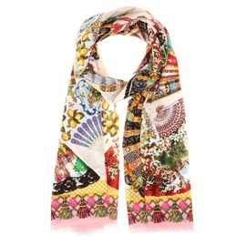 DOLCE&GABBANA - Printed cotton scarf