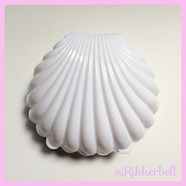 plamode - Shell Plastic Candy Box L White