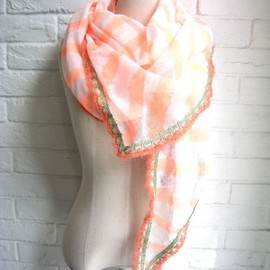 STARSTYLING - STARSTYLING Crochet Scarf Triangle   NEO ORANGE