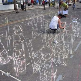 Planet Streetpainting - LEGO Version of Terracotta Army of China