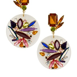 ASOS - , ASOS Jewel Perspex Disc Earrings