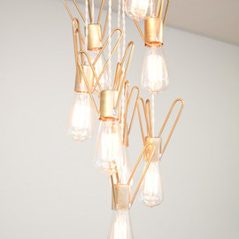 dylangrey - Retronaut Chandelier - 8 Bulb Rocket Lamp W/Edison Bulbs