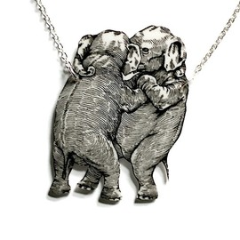 Necklace - Dancing Elephants
