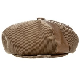 Stephen Jones - Oversized 'Gatsby' Newsboy Panell Cap - Brown Corduroy