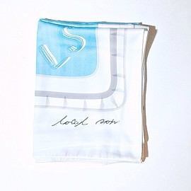 "L  O  C  A  L   S  O  N - SIlK SATIN SCARF "" wish you were here! "" POOL。"